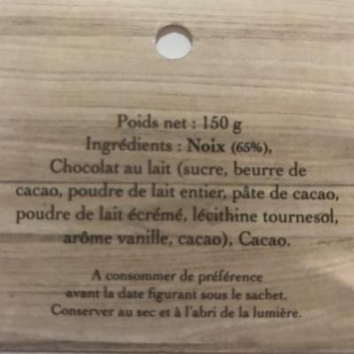 liste des ingrédients noix au chocolat
