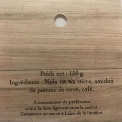 liste des ingrédients noix au café