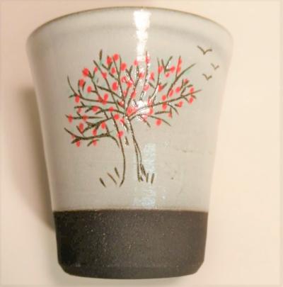 gobelet à café 10 cl décor arbre